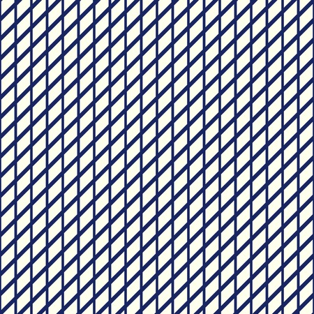 bias: Seamless pattern with symmetric geometric ornament. Nautical blue striped abstract wallpaper. Navy color thin line grid digital paper for scrapbook, textile print, page fill. Vector illustration Illustration