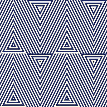 Motif avec ornement géométrique. bleu marine abstraite de fond rayé. triangles répétées papier peint. Vector illustration Vecteurs
