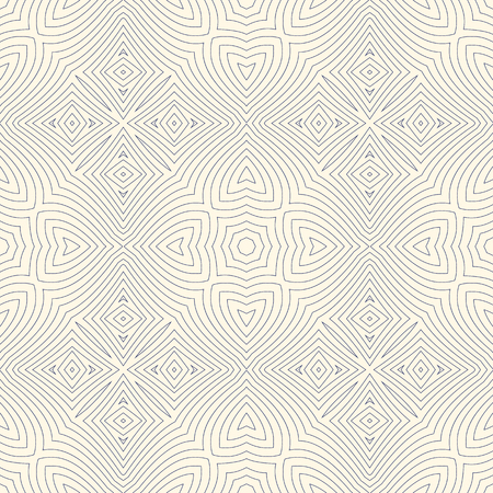 used ornament: Outline ethnic abstract background. Seamless pattern with symmetric geometric ornament. Can be used for coloring books and pages, textile print, page fill. Vector illustration