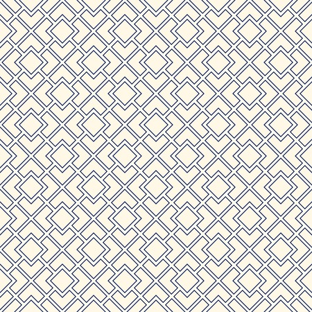 diagonal  square: Outline diagonal square chain abstract background abstract background. Seamless pattern with symmetric geometric ornament. Vector illustration