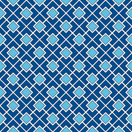 diagonal  square: Seamless pattern with symmetric geometric ornament. Color diagonal square chain abstract background. Vector illustration Illustration