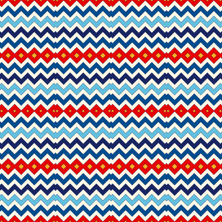 vivid colors: Seamless pattern with symmetric geometric ornament. Chevron zigzag bright colors horizontal lines abstract background. Ornamental vivid wallpaper. Vector illustration