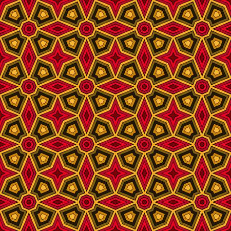 Bright fond abstrait ethnique. seamless Kaleidoscope avec ornement décoratif dans le style africain. Ornement papier peint vif. Vector illustration