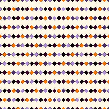 seamless in colori tradizionali di Halloween. Estratto ripetuto luminoso linee orizzontali sfondo. carta da parati mosaico. illustrazione di vettore