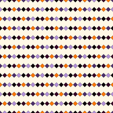 Seamless pattern in Halloween traditional colors. Abstract repeated bright horizontal lines background. Mosaic wallpaper. Vector illustration