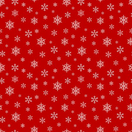 Seamless pattern with snowflake. Winter season background with snowfall. Christmas and New Year holiday scrapbook digital paper, textile print, page fill. Vector illustration