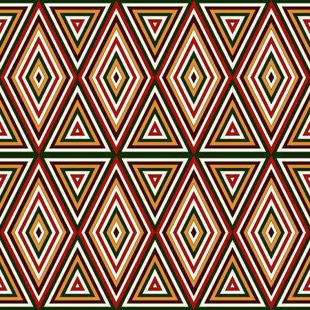 motivos navideños: Patrón transparente en los colores tradicionales de la Navidad. Brillante resumen de antecedentes ornamentales. adornos étnicos y tribales. Puede ser utilizado para papel digital, impresión textil, relleno página. Ilustración