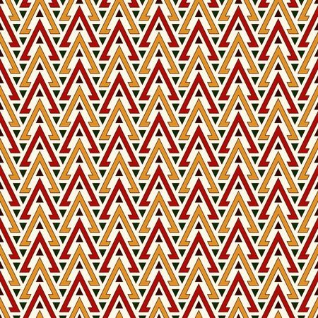 solid figure: Bright hollow and solid triangles on white background. Repeated figures wallpaper. Ethnic ornamental motif. Seamless pattern with geometric ornament in african style. Vector art