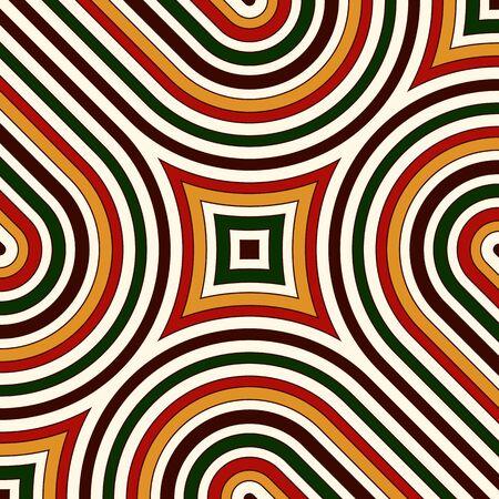 motivos navideños: Patrón brillante con adornos geométricos en colores tradicionales de Navidad. Colorido fondo abstracto. Motivos étnicos y tribales. Papel pintado vivo ornamental. Ilustración vectorial