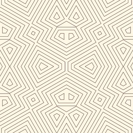 Outline ethnic abstract background. Seamless pattern with tribal ornament. Can be used for digital paper, textile print, page fill. Vector illustration