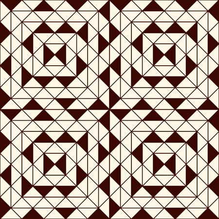 figuras abstractas: Esquema patrón transparente con figuras geométricas. cuadrados y triángulos repetidos resumen de antecedentes ornamentales. textura de estilo moderno. papel digital, impresión textil, relleno página. arte del vector Vectores