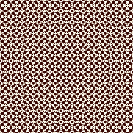lattice window: Outline seamless pattern with stylized repeating stars. Simple geometric ornament. Modern stylish texture. Scrapbook digital paper, textile print, page fill. Vector illustration.