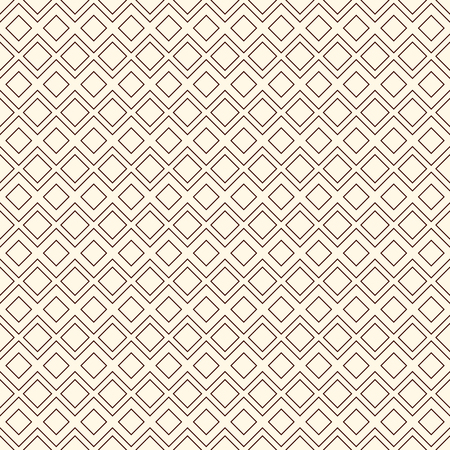 Outline seamless pattern with geometric figures. Repeated diamond ornamental abstract background. Modern style surface texture.