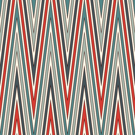 Chevron diagonal stripes abstract background. Retro style seamless pattern with classic geometric ornament. Zigzag horizontal lines wallpaper. Illustration