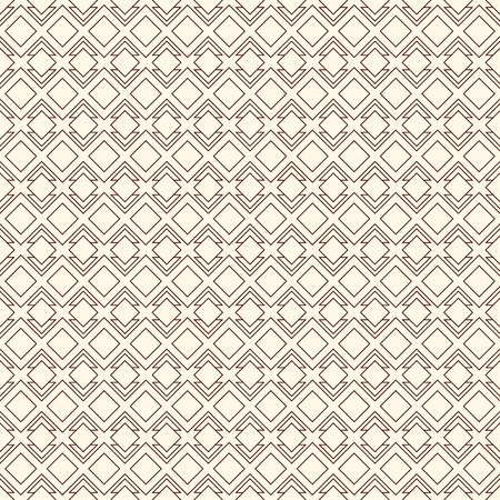 Outline seamless pattern with geometric figures. Repeated diamond ornamental abstract background. Ethnic and tribal motif.