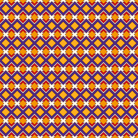 African style seamless pattern with geometric figures. Repeated diamond ornamental abstract background. Ethnic and tribal motif.