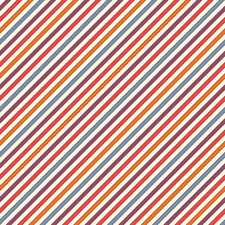 bias: Bright colors diagonal stripes abstract background. Thin slanting line wallpaper. Seamless pattern with simple classic motif. Digital paper for scrapbook, textile print, page fill. Vector illustration Illustration