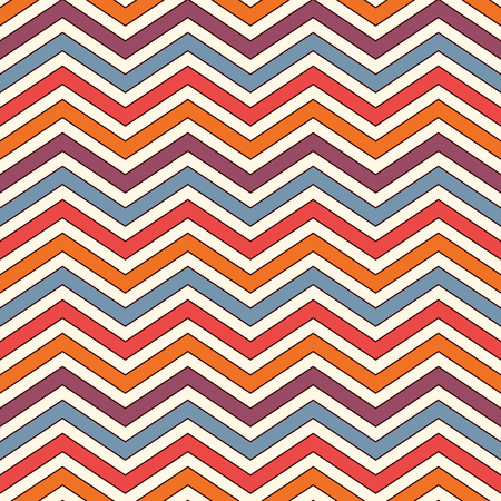 Chevron diagonal stripes abstract background. Bright seamless pattern with classic geometric ornament. Zigzag horizontal lines wallpaper. Vivid digital paper, textile print, page fill. Vector art