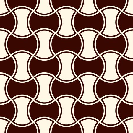 Texture de quilts de base de pomme. Motif noeud papillon. Modèle de surface transparente avec ornement classique. Fond de silhouettes de hachures imbriquées. Décrire le papier numérique avec des formes de marteau. Vecteur. Banque d'images - 81442739