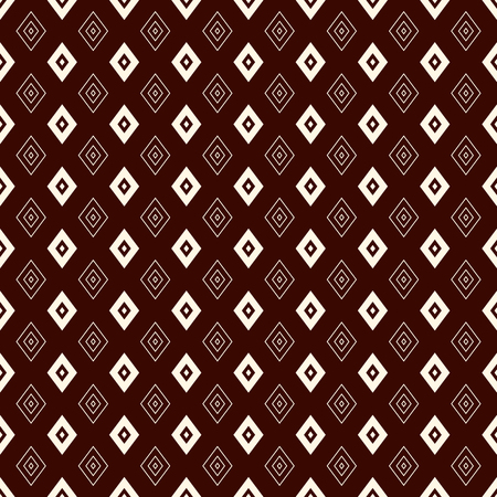 Outline seamless pattern with geometric figures. Repeated diamond ornamental abstract background.