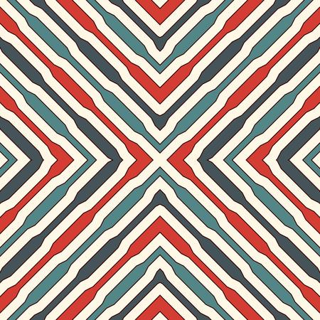 Modèle sans couture de style ethnique avec des figures géométriques. Abstrait abstrait ornemental de rayures. Motif tribal. Papier numérique Boho chic, impression textile, remplissage de page. Vector art