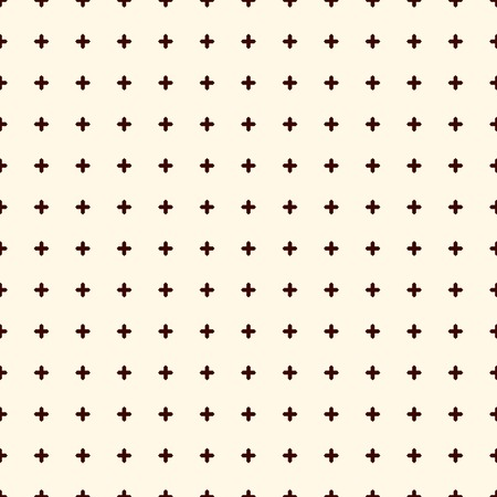 Minimalist abstract background. Simple modern print with crosses. Outline seamless pattern with geometric figures. Digital paper, textile print, page fill. Vector art Illustration