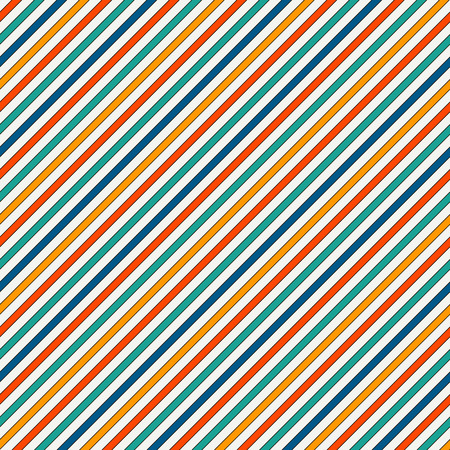 grille: Vivid colors diagonal stripes abstract background. Thin slanting line wallpaper. Seamless pattern with simple classic motif. Digital paper for scrapbook, textile print, page fill. Vector illustration