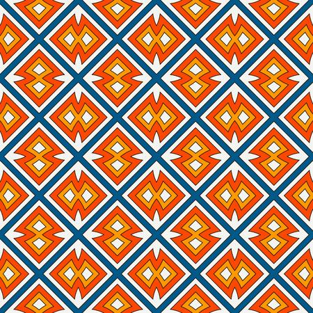 기하학적 수치와 민족 스타일 원활한 패턴입니다. 아메리카 원주민 장식용 추상적 인 배경. 부족 모티브. Boho 세련된 디지털 용지, 섬유 인쇄, 페이지  일러스트