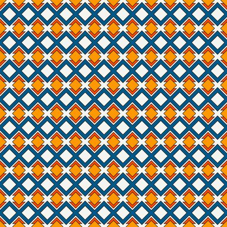 repeated: African style seamless pattern with geometric figures. Repeated diamond ornamental abstract background. Ethnic and tribal motif. Grid digital paper, textile print, page fill. Vector art Illustration