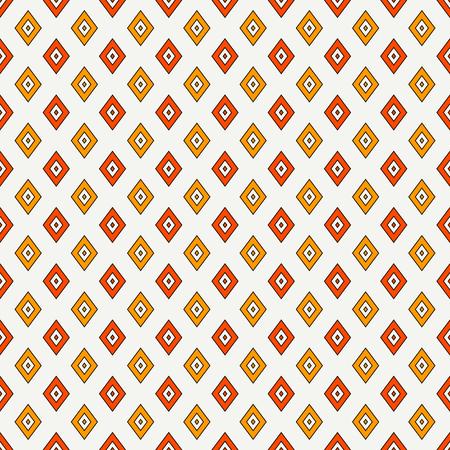 Modello senza cuciture con figure geometriche. Priorità bassa astratta ornamentale ripetuta del diamante. Motivo di rombi. Carta digitale di stile etnografico, stampa tessile, riempimento pagina. Arte vettoriale Vettoriali