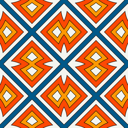 Ethnic style seamless pattern with geometric figures. Native americans ornamental abstract background. Tribal motif. Boho chic digital paper, textile print, page fill. Vector art