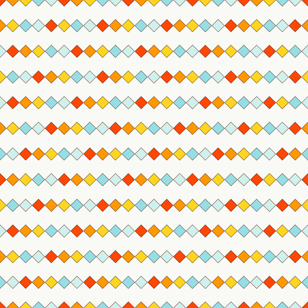 repeated: Seamless pattern with repeated squares. Horizontal lines abstract background. Mosaic wallpaper. Minimalist geometric ornament. Digital paper, textile print, page fill. Vector art