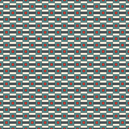 repeated: Repeated square and horizontal stripes abstract. Illustration