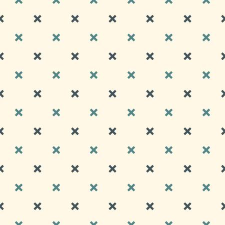 シンプルな抽象的な背景。ミニでシンプル モダンなプリントを交差させます。幾何学的図形とのシームレスなパターン。デジタル ペーパー、繊維印刷、ページ入力。ベクター アート