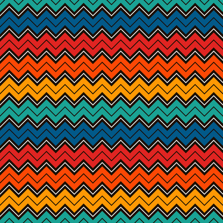 Chevron diagonal stripes abstract background. Bright seamless pattern with classic geometric ornament.