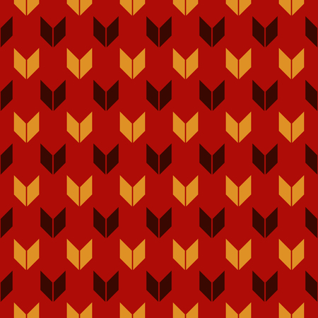 Pattern in Christmas traditional colors with arrows motif.