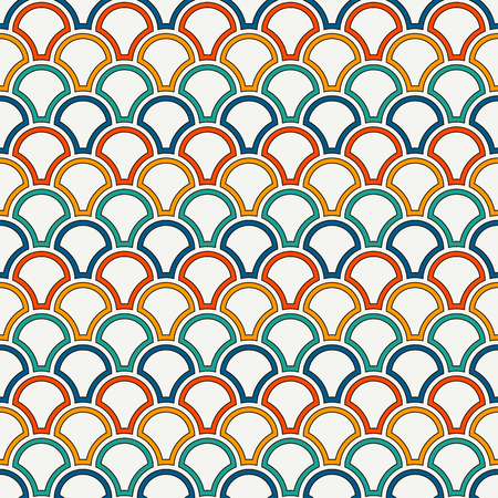 Bright color fish scale wallpaper design.