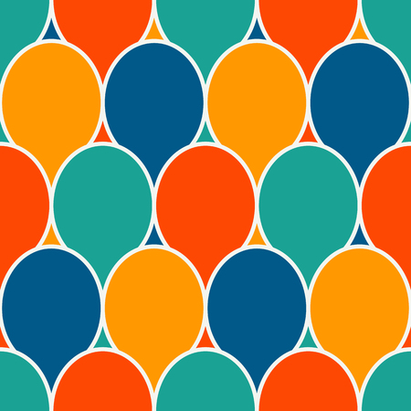Surface pattern design with bright colors party balloons.