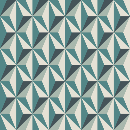 Geometric abstract background with 3d effect. Seamless pattern with repeated triangles. Contemporary motif. Optical illusion wallpaper. Interlocking figures ornament. Op art digital paper. Vector art. Illustration