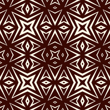 Outline seamless pattern with geometric figures. Repeated stylized stars ornamental abstract background.