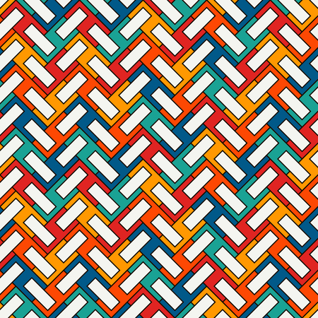 Herringbone wallpaper. Abstract parquet background. Seamless surface pattern with repeated rectangular tiles.