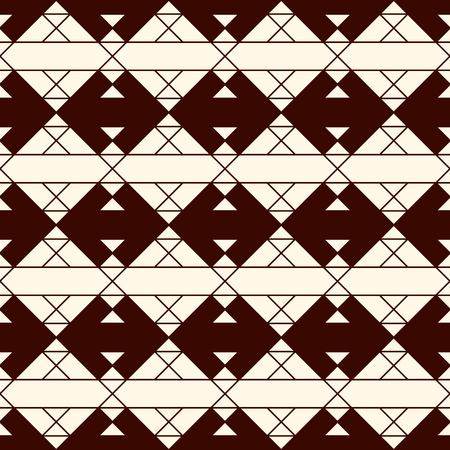 Ethnic style seamless pattern with geometric figures.