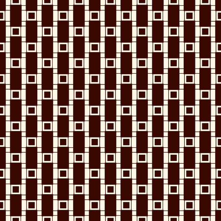 Seamless surface pattern with strokes and squares. Ilustração