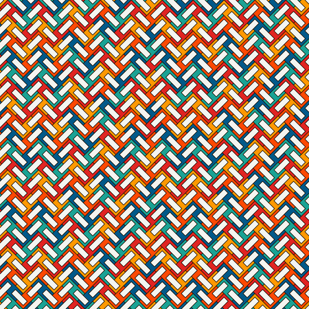 Herringbone wallpaper, Abstract parquet background, Seamless surface pattern with repeated rectangular tiles. Illustration