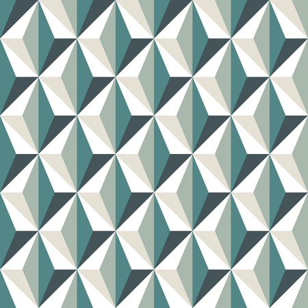 Geometric abstract background with 3d effect, Seamless pattern with repeated triangles.