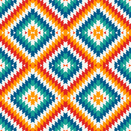 Ethnic style seamless pattern with chevron lines.