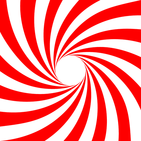 Red white swirl abstract vortex background. Vector illustration.