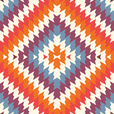 Ethnic style seamless pattern with chevron lines. Native Americans ornamental background. Illustration