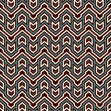 Ethnic style seamless pattern with chevron lines Vector art