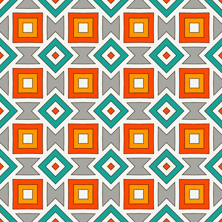 African style seamless pattern with geometric figures. American native design abstract background. Repeated diamond ornamental. Ethnic and tribal motif. Digital paper, textile print. Vector art Ilustrace
